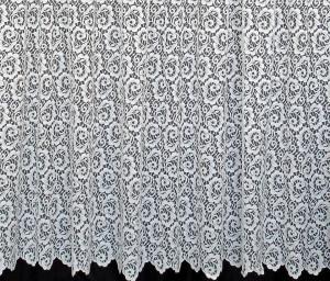 Perdea, model 51213, alb, H 2.40