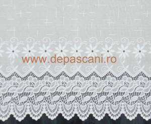 Perdea, model 51147, alb, H 1.50