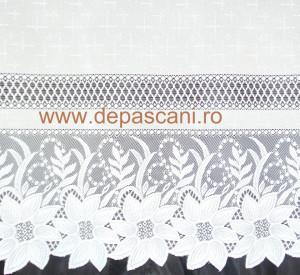 Perdea, model 51203, alb, H 2.40