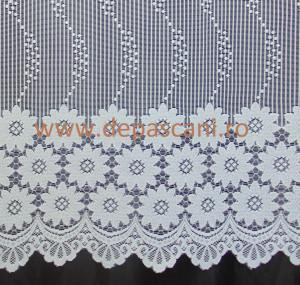 Perdea, model 51306, alb, H 2.40
