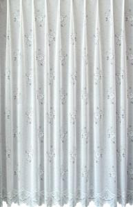 Perdea 5598, alba, confectionata cu rejansa