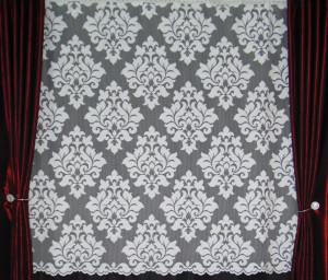Perdea de Pascani Siretul, model 51193, alb, la metru c