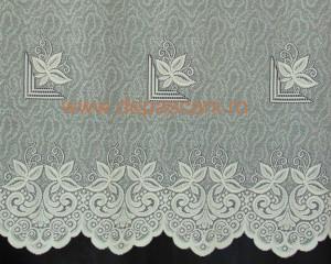 Perdea, model 04036, crem, H 1.80