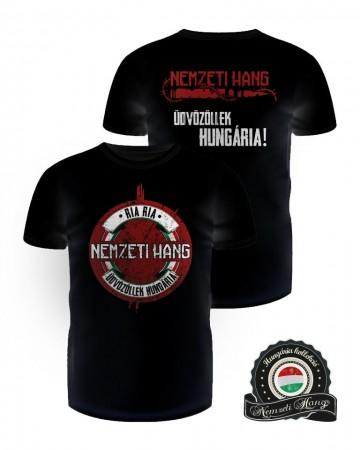 Üdvözöllek Hungária póló - fekete (férfi)