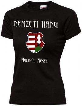 Nemzeti Hang - póló színes címer (női) kép
