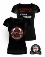 Üdvözöllek Hungária póló - fekete (női)