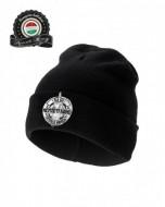 Üdvözöllek Hungária téli sapka (fekete)