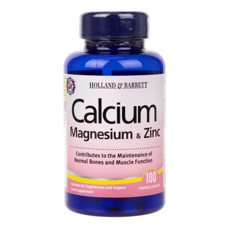 Calciu, magneziu și zinc 100 tablete