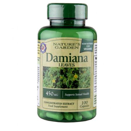 Damiana ( extract concentrat de frunze) 450mg, 100 capsule
