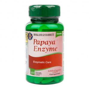 Enzime din Papaya 100 comprinate masticabile
