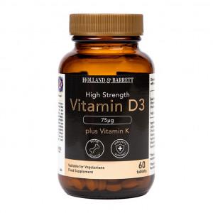 Vitamina D3 cu vitamina K2 60 comprimate