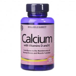 Calciu cu vitamina D și vitamina K 120 tablete