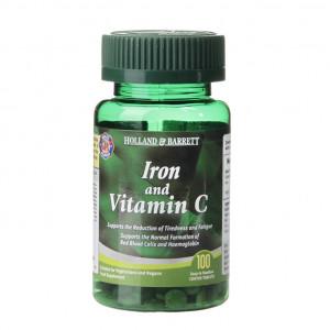 Fier cu vitamina C, 100 de tablete