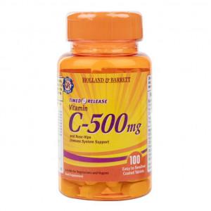 Vitamina C 500 mg cu eliberare prelungită, 100 de tablete