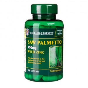 Saw palmetto cu zinc 100 capsule
