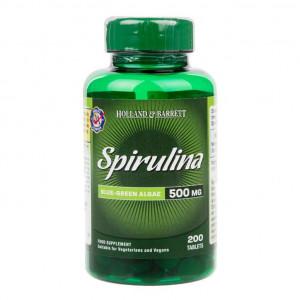 Spirulina 500 mg, 200 de tablete