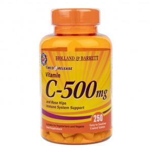 Vitamina C 500 mg cu eliberare prelungită, 250 tablete