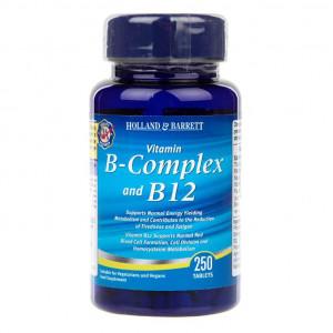 B-Complex cu vitamină B12, 250 de tablete
