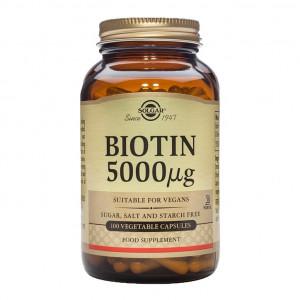 Biotin (vitamina B7) 5000 mcg 100 capsule