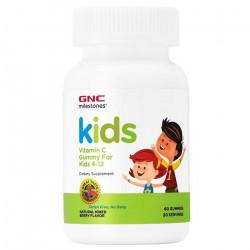 Vitamina C cu aroma de fructe de padure Milestones Kids 504211, jeleuri, GNC