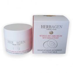 Crema intensiva antiacneica cu extract de melc Herbagen, 50 ml