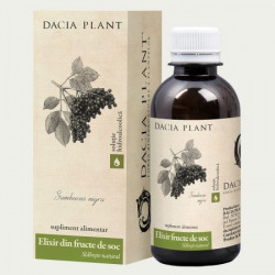Elixir din fructe de soc Tinctura Dacia Plant 200 ml