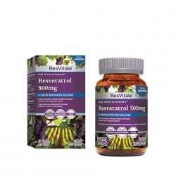 ResVitale Resveratrol 500mg 30 capsule GNC