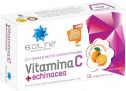 Vitamina C + Echinacea Helcor, 30 comprimate de supt