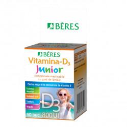 Vitamina D3 Junior 800 UI, 50 cpr, Beres Pharmaceuticals