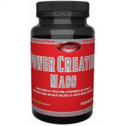 Power Creatine Mass Natural Plus Ciocolata 900 g