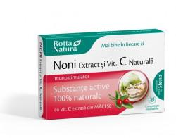 Noni extract+ Vitamina C naturala Rotta Natura 30 comprimate masticabile
