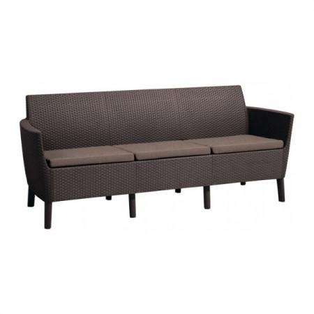 Canapea 3 locuri maro Keter Salemo