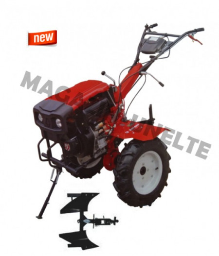 Motocultor 9CP, diesel, Rotakt RO135S, pachet cu plug reversibil