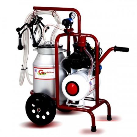 Mulgatoare oi Gardelina 1 Post cu bidon de 30L aluminiu si vacuum