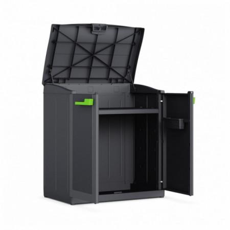 Dulap gradina compact 2 usi pentru reciclare graphite Keter Moby 110 L