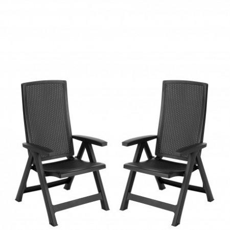 Set 2 scaune Curver Montreal gri