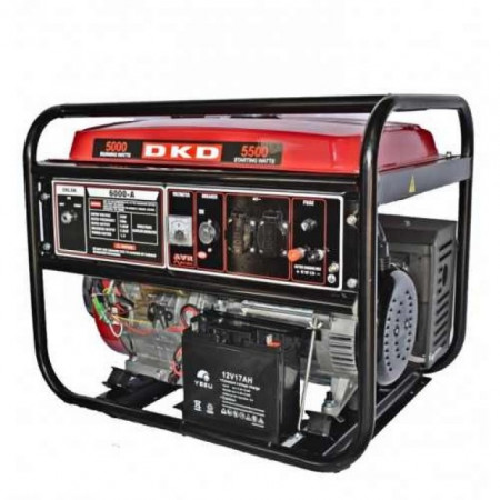 Generator de curent pe benzina, Dakard LB 6000 E, 15 CP, 25 L, pornire la cheie