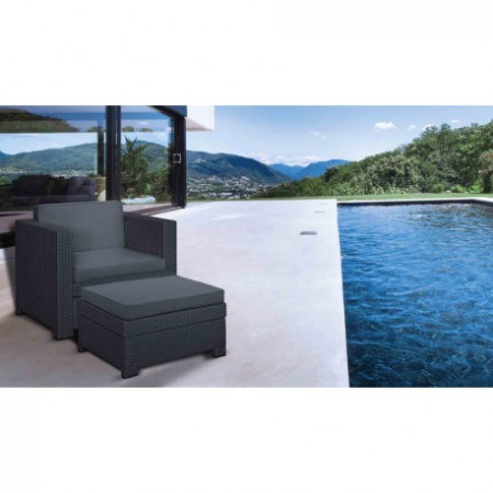 Set mobilier gradina Curver Provence Chillout gri