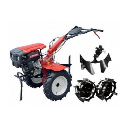 Motocultor Rotakt RO105S-9B, 9 CP, benzina, pachet cu plug reversibil si roti metalice