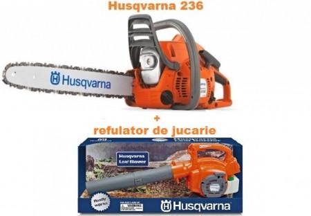 Motoferastrau Husqvarna 236 + refulator de jucarie Husqvarna