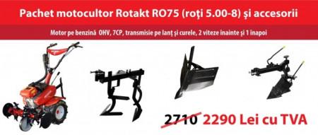 Motocultor Rotakt ROG75, 7 CP, benzina cu accesorii