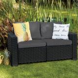 Canapea cu 2 locuri graphite Keter California