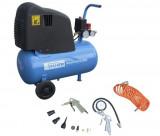 Compresor aer cu piston GUDE 210/08/24 + 12 ACCESORII
