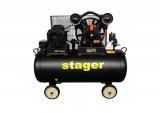 Compresor aer Stager HMV0.6/200-10 200L, 10bar, 600L/min, trifazat