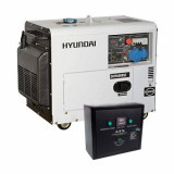 Generator de curent monofazat cu motor diesel HYUNDAI DHY6000SE cu ATS