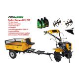 Pachet motocultor Campo 803, benzina, 7CP, 2+1 trepte, plug bilonat, accesorii, ulei motor si transmisie incluse