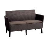 Canapea 2 locuri maro Keter Salemo