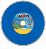 Disc diamantat de taiere continuu, 230x30/25.4/22.2x1.7 mm, taiere umeda si uscata, Maxon - MCS230C ,