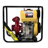 Motopompa DKD HP80 diesel, pornire manuala