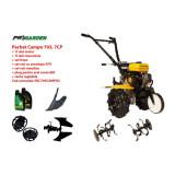 Pachet motocultor Campo 753, benzina, 7CP, roti ATV, accesorii, ulei motor si transmisie incluse